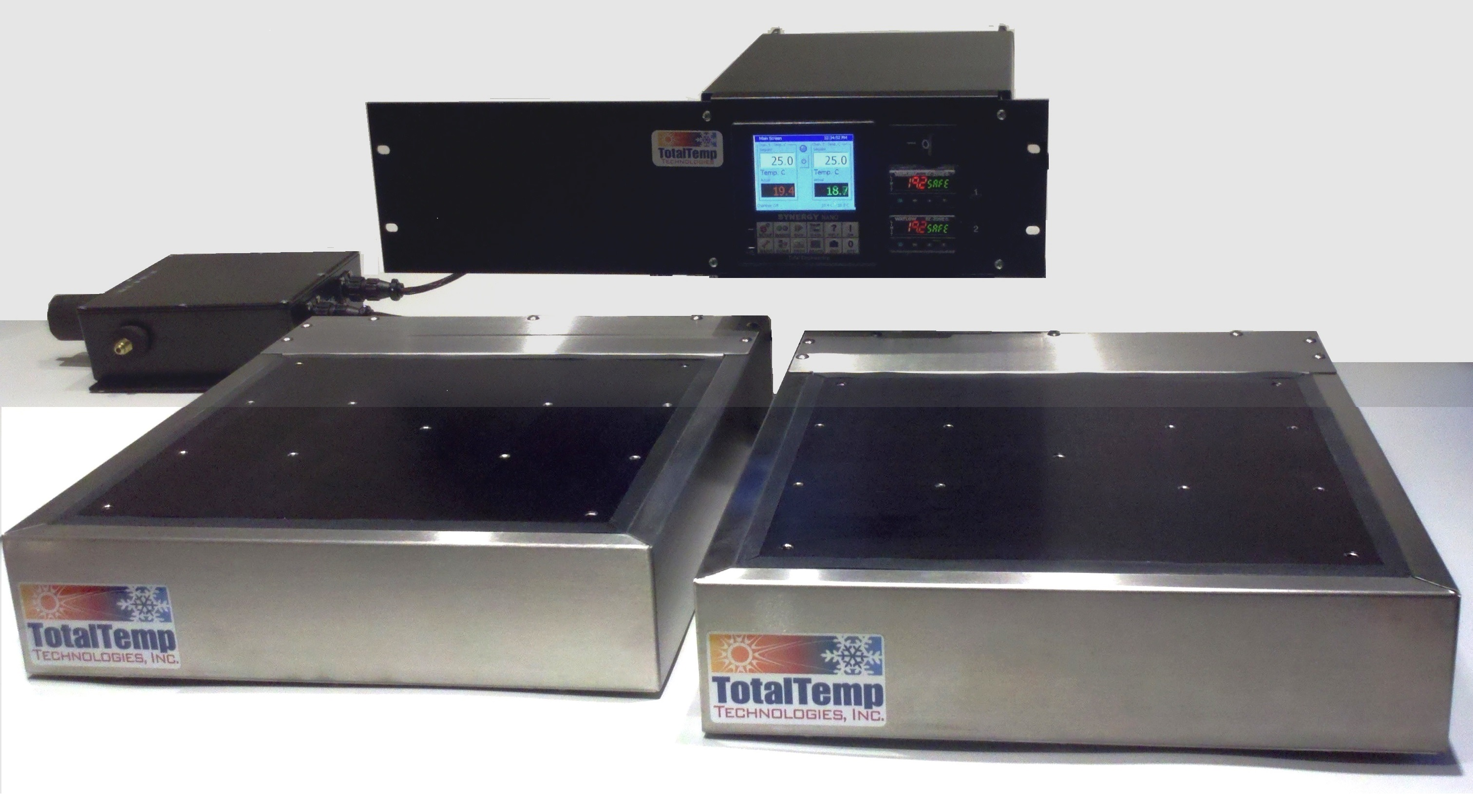 Complete Dual Zone SD144 system with remote valve box, rack mount enclosure and GPIB